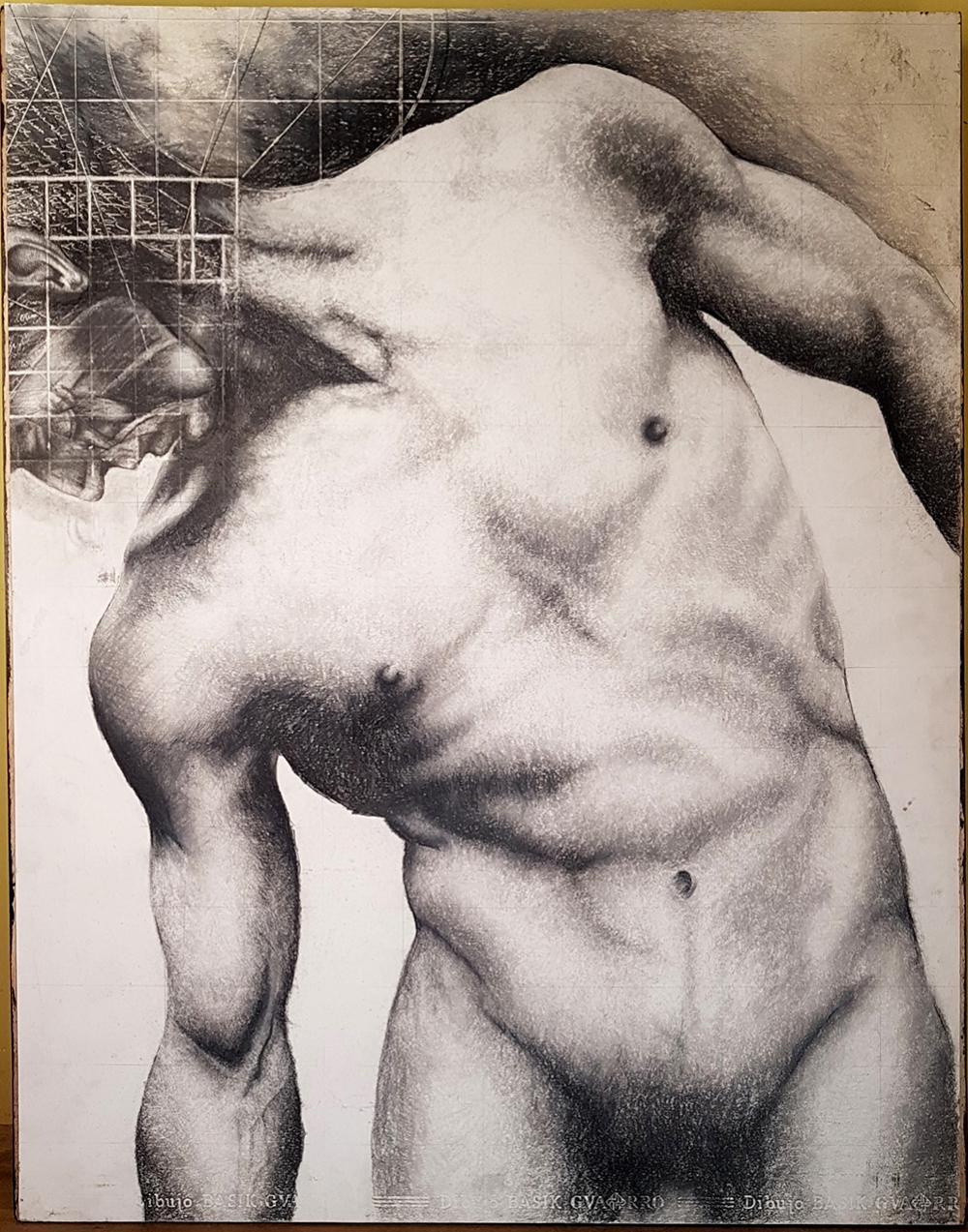 Lot 3613: Plomada Felipe Herrera Original Male Nude