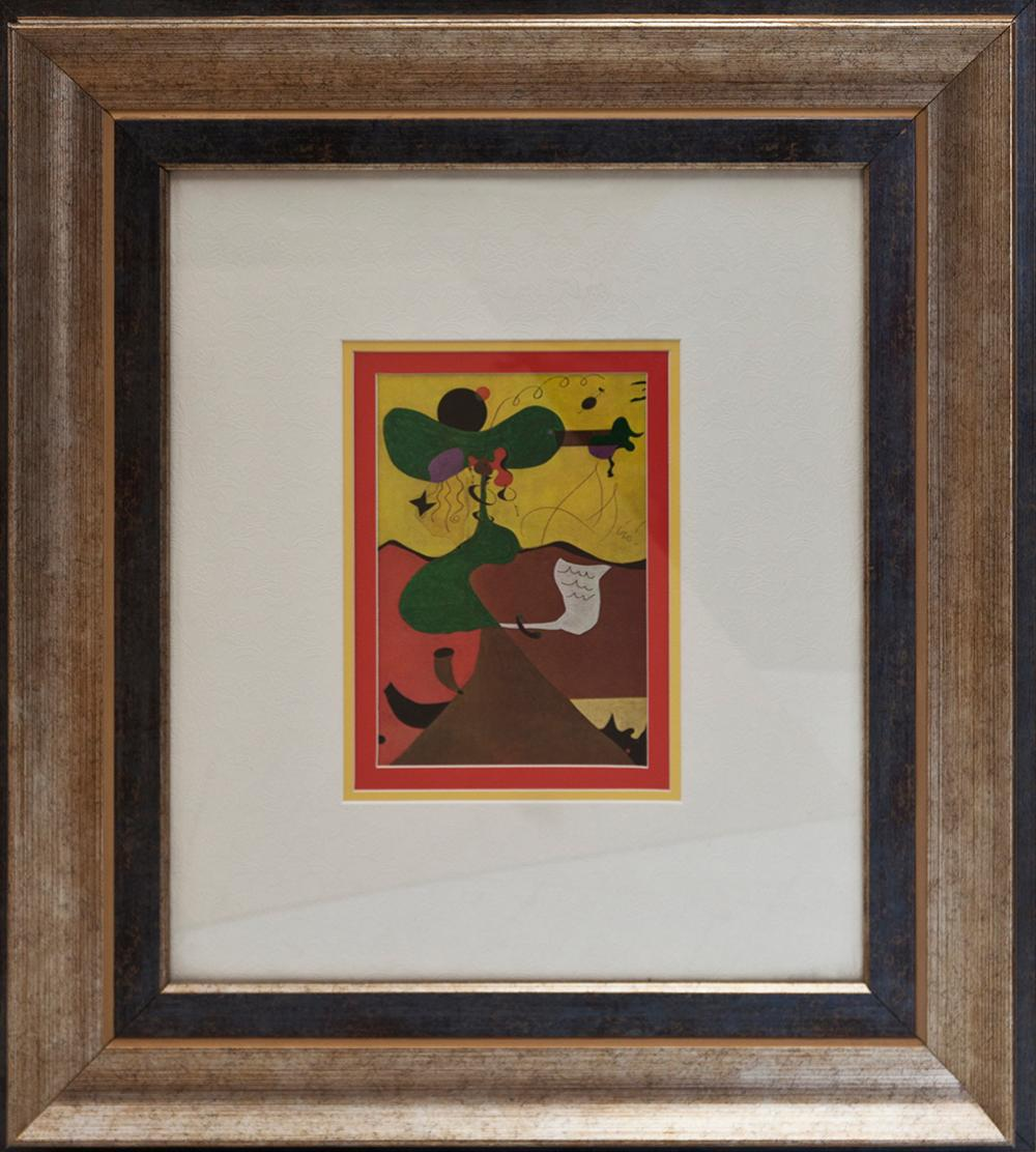 Lot 3623: Joan Miro lithograph from over 50 years ago