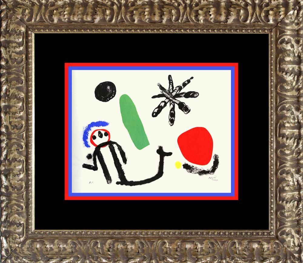 Lot 3625: Joan Miro Color Plate Lithograph 1962 Maeght Paris
