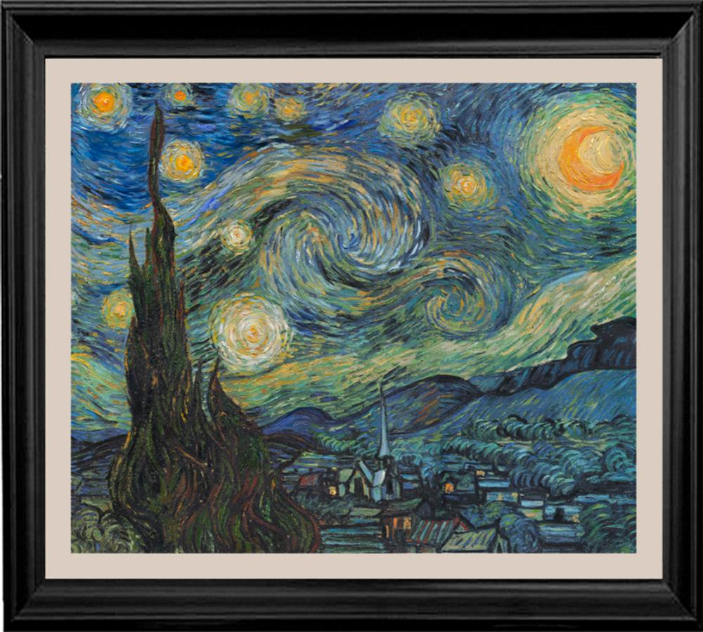 Lot 4005: After Vincent Van Gogh-Limited Edition on canvas Starry Night