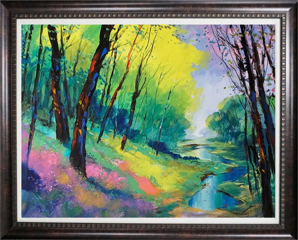 Lot 4100: Michael Schofield original on canvas