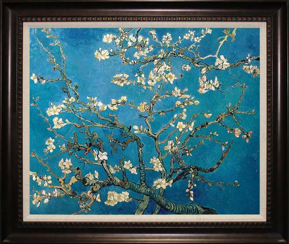 Lot 4002: After Vincent Van Gogh-Limited Edition on canvas Cherry Blossoms