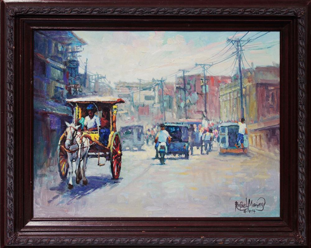 Lot 4111: Hand Signed Original Oil on canvas by Rafael