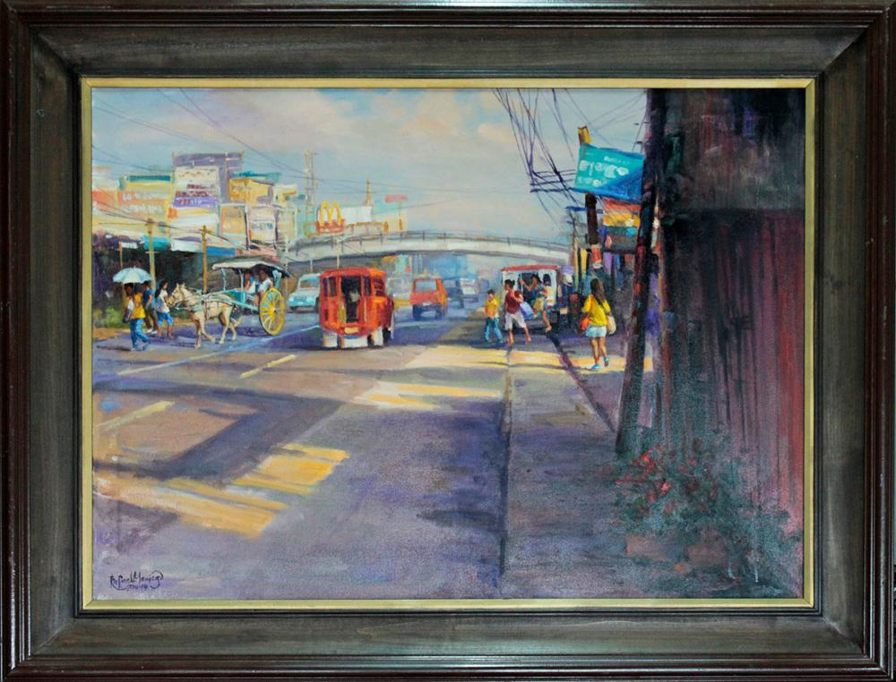 Lot 4124: Hand Signed Original Plein Air Oil on canvas by Rafael