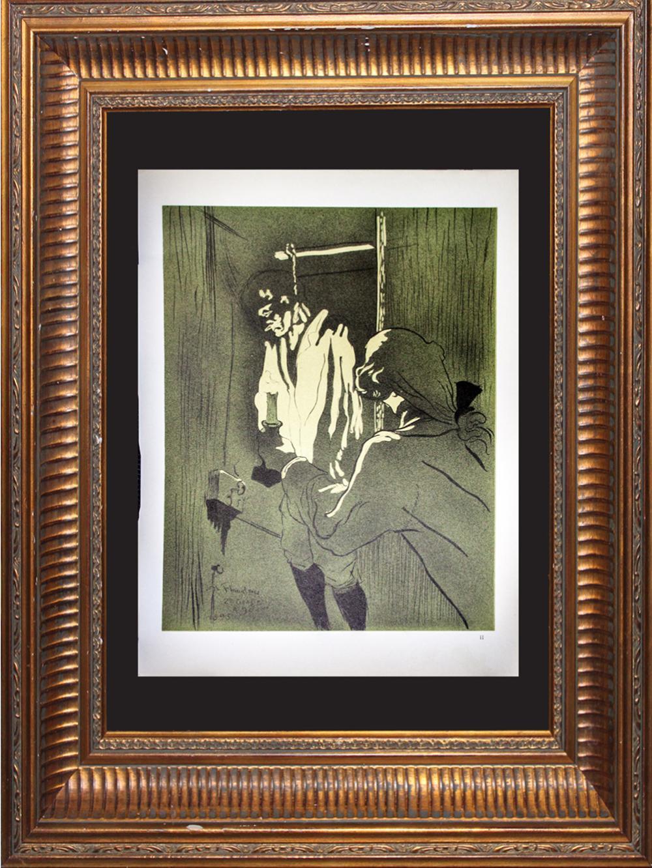 Lot 4125: Toulouse Lautrec. Lithograph Printed by Mourlot Press 1951 in Paris France.