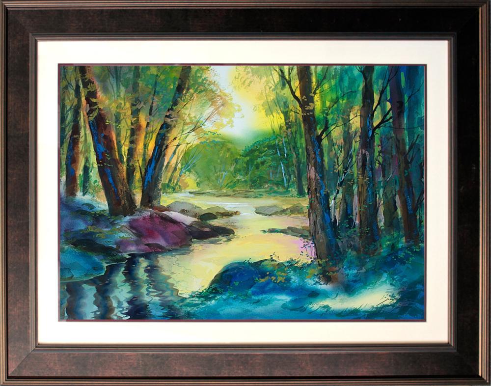 Lot 4118: Original Watercolor by Michael Schofield