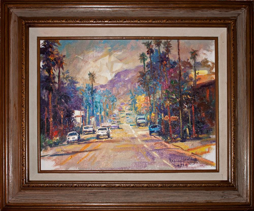 Lot 4123: Hand Signed Original Plein Air Oil on canvas by Rafael