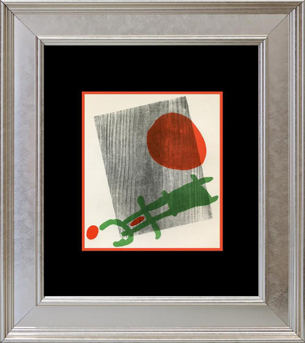 Lot 4202: Joan Miro 1959 Lithograph from Mourlot Press in Paris