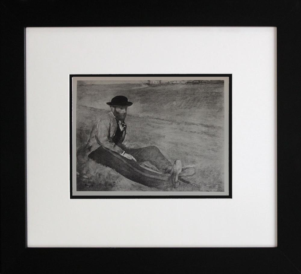 Lot 4150: Edgar Degas engraving limited edition over 90 years ago