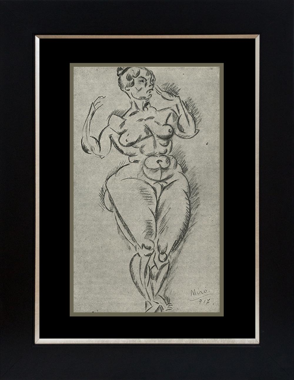 Lot 4159: Joan Miro Standing Nude Color Plate Lithograph