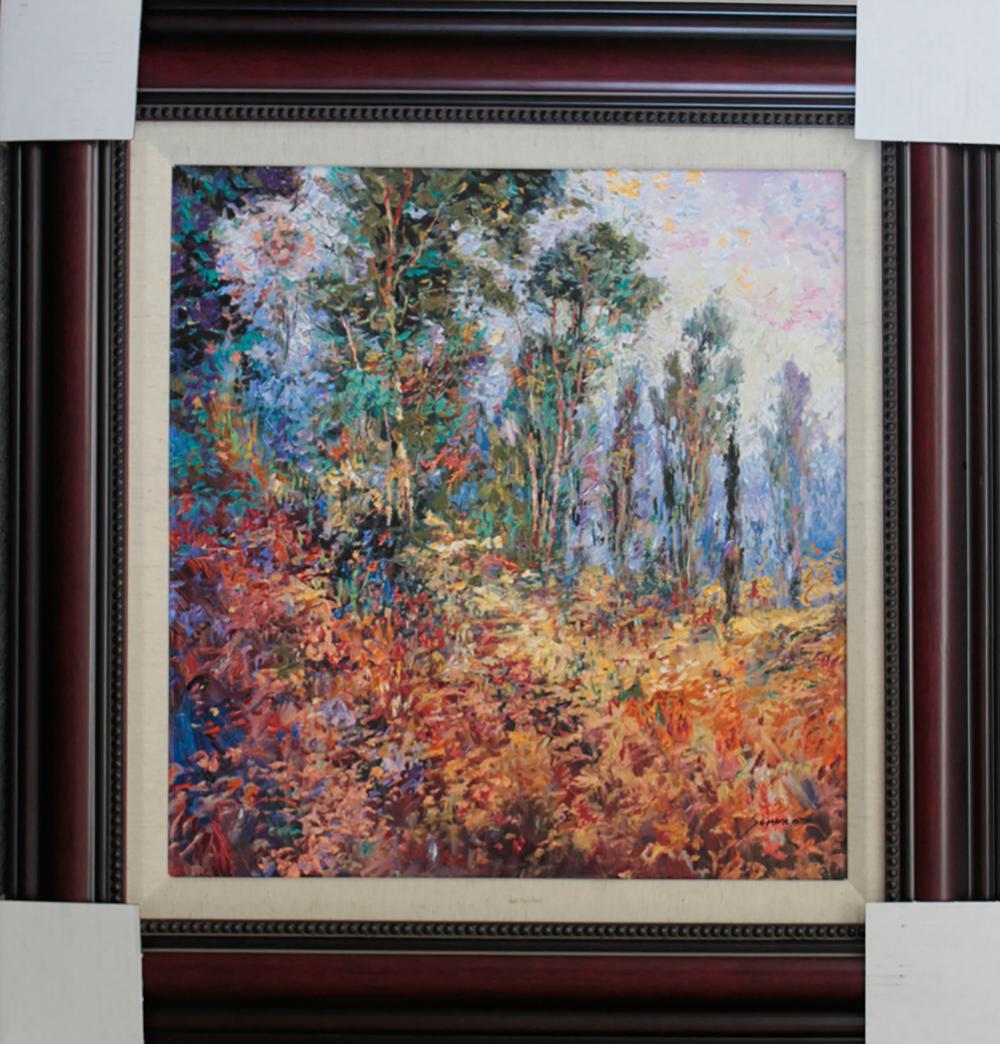 Lot 4817: Michael Schofield hand emblellished limited edition on canvas Landscape