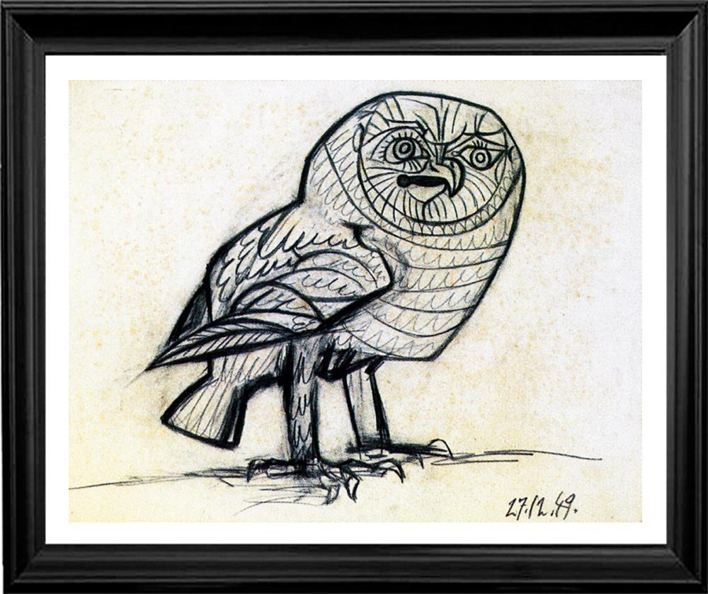 Lot 4809: Limited Edition Owl after Pablo Picasso