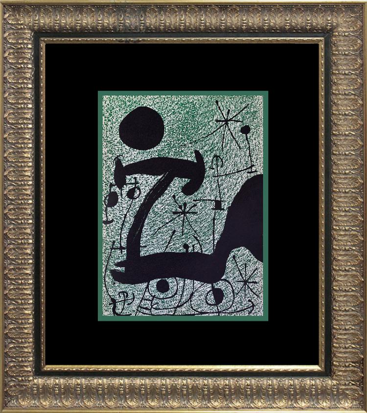 Joan miro original lithograph derriere le miroir 1967 paris for Maeght derriere le miroir