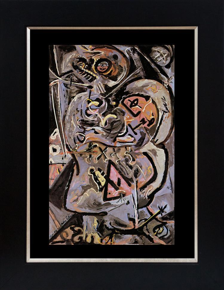 Jackson Pollock color plate lithograph