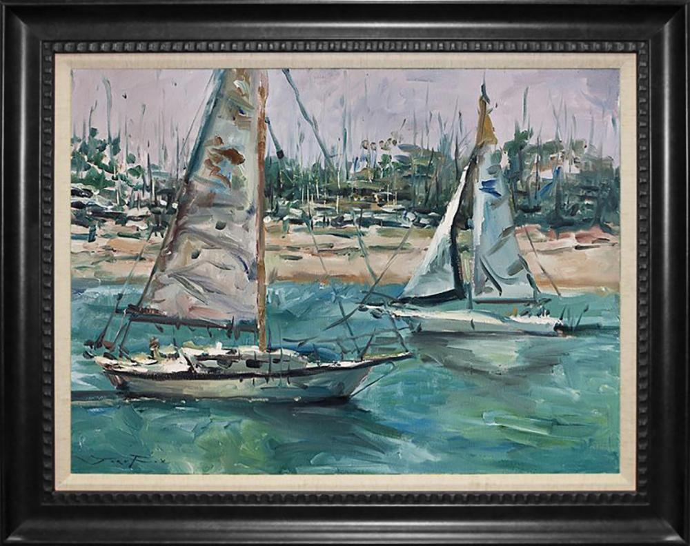 Lot 7001: Jorn Fox Original oil on canvas.