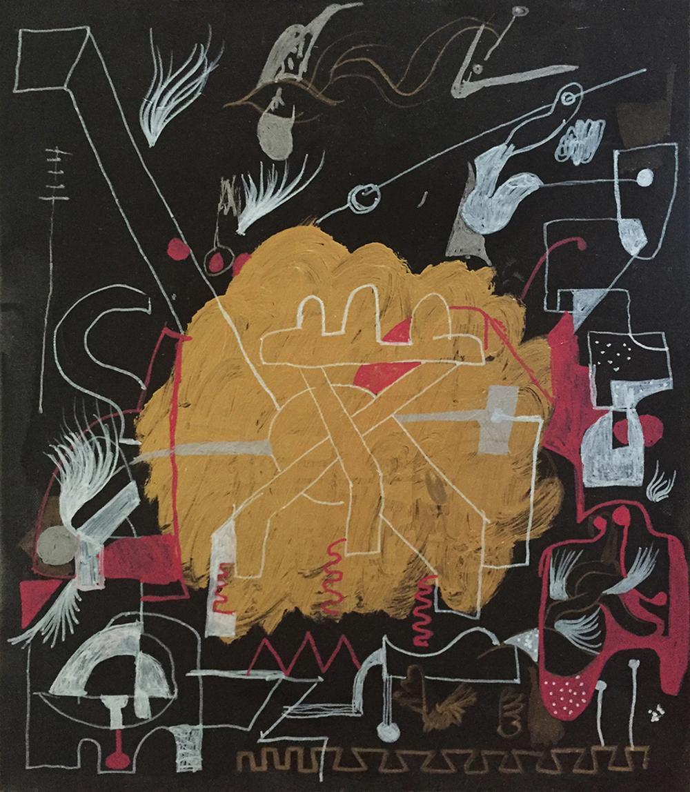 Lot 7034: Gino Perez original on canvas