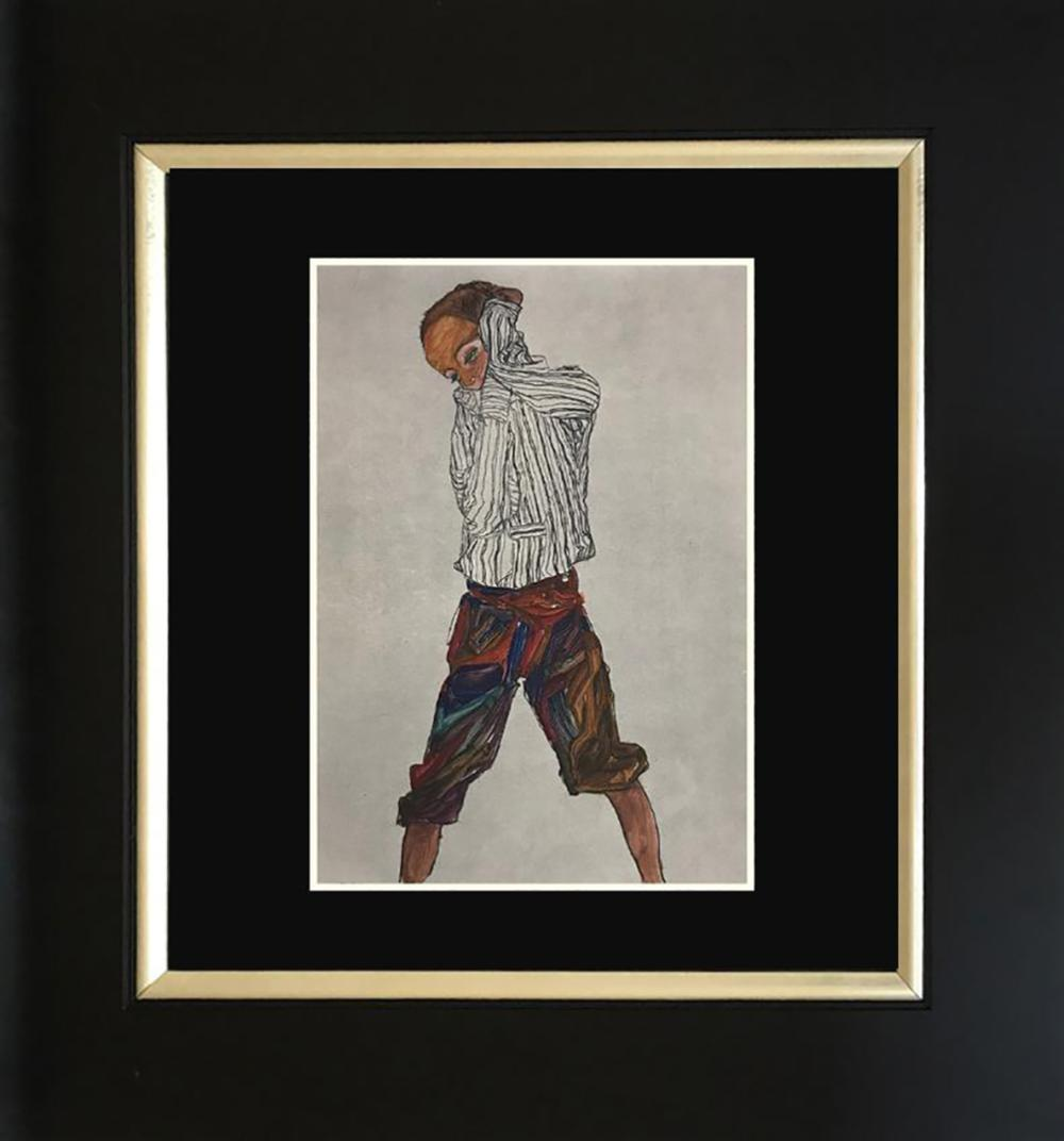 Egon Schiele color plate lithograph