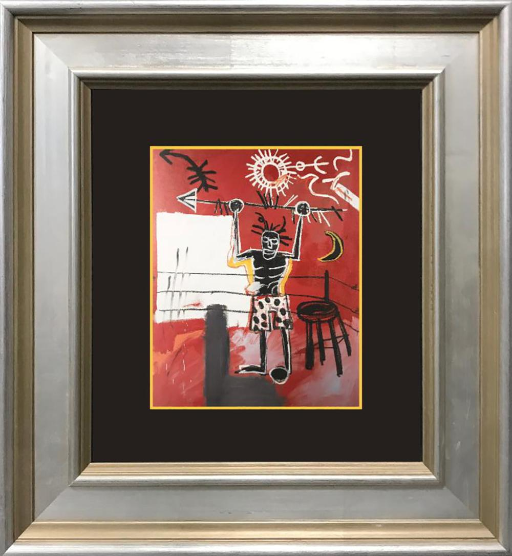 Lot 7071: Jean Michel Basquiat Color Plate Lithograph