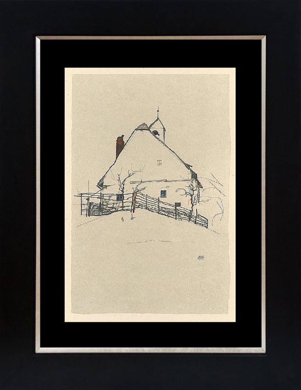 Egon Schiele lithograph heavy wove paper circa 1951