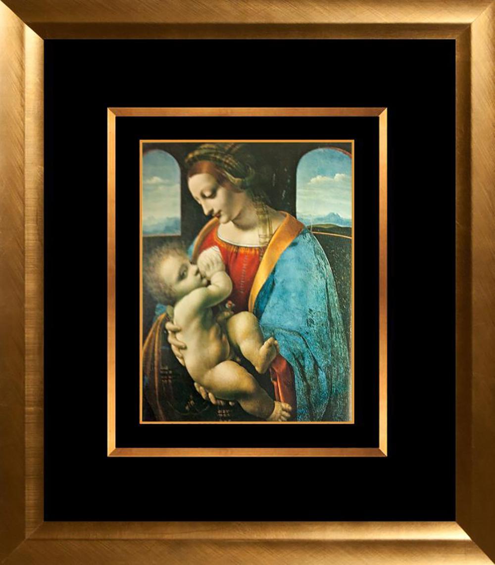 Lot 7086: Leonardo Da Vinci Art Print from the Hermitage Collection The Litta Madonna