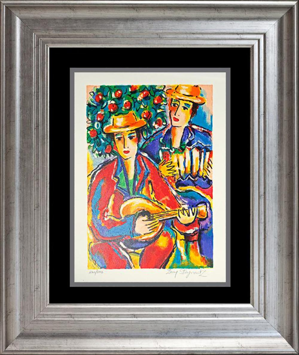 Lot 7098: Zamy Steynovitz Hand signed serigraph Judaica Art
