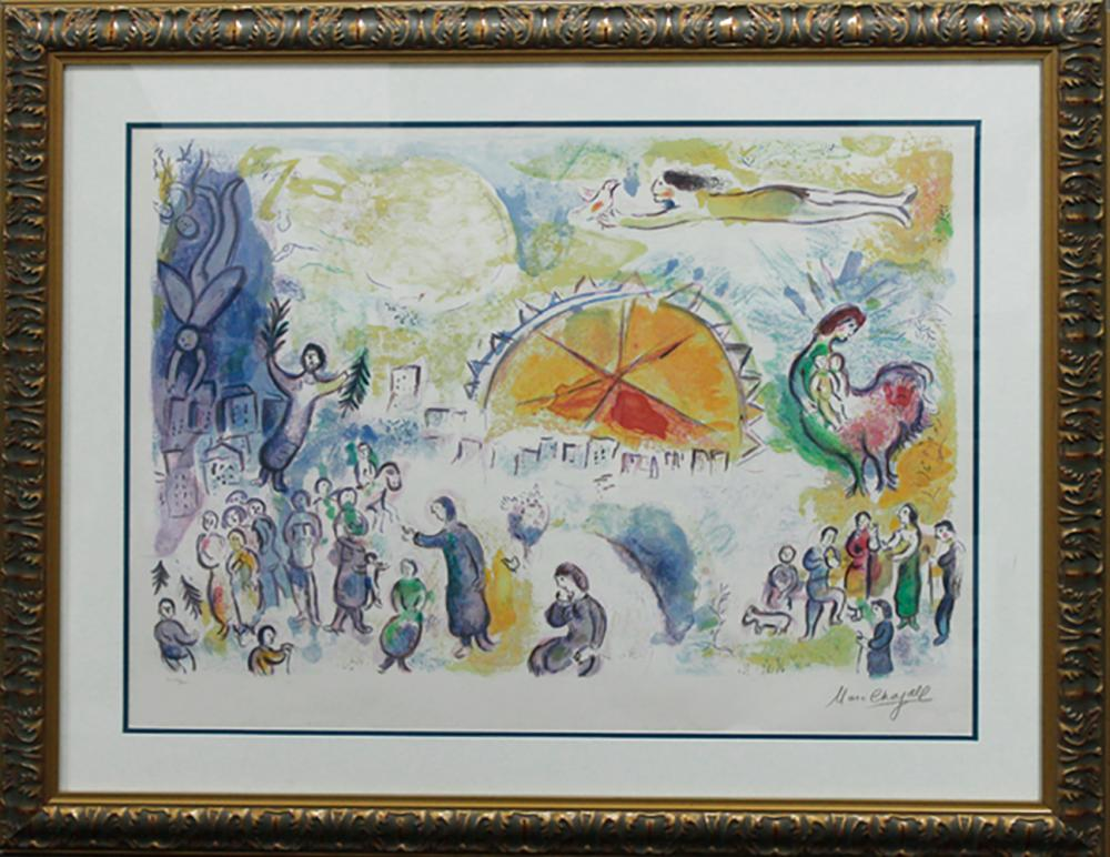 Lot 7082: Marc Chagall-Ltd Ed lithograph-The Four Seasons