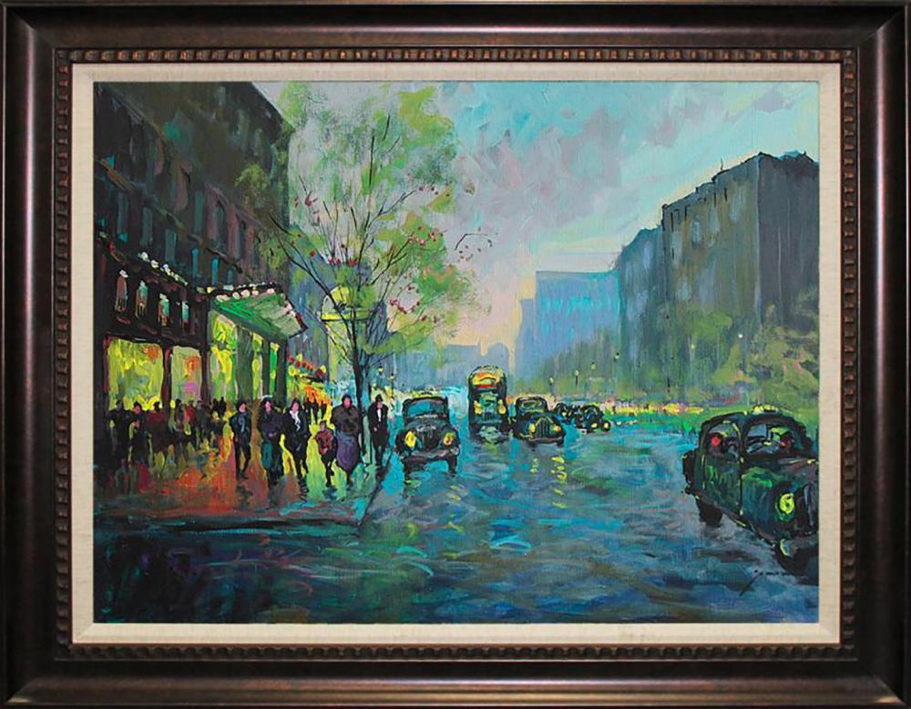 Lot 7108: Michael Schofield Original on canvas