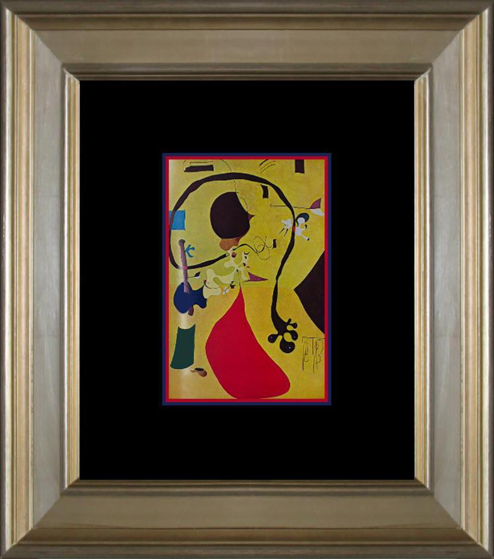 Lot 7158: Joan Miro Original Color Plate Lithograph 1968