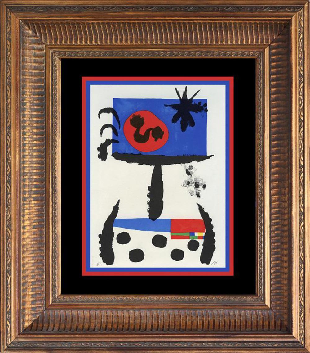 Lot 7189: Joan Miro Color Plate Lithograph 1962 Maeght Paris