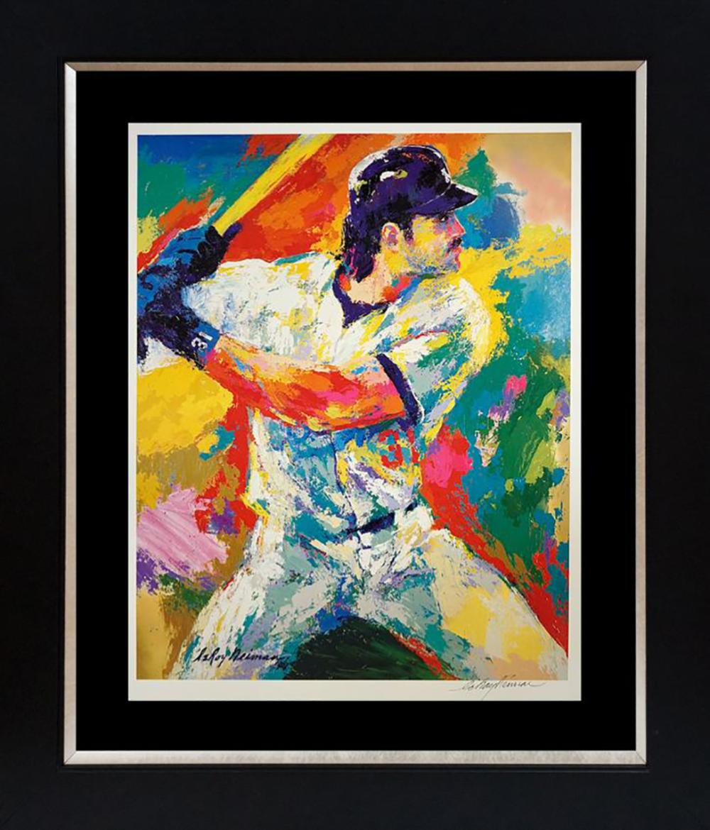 LeRoy Neiman Hand signed Lithograph Mike Piazza