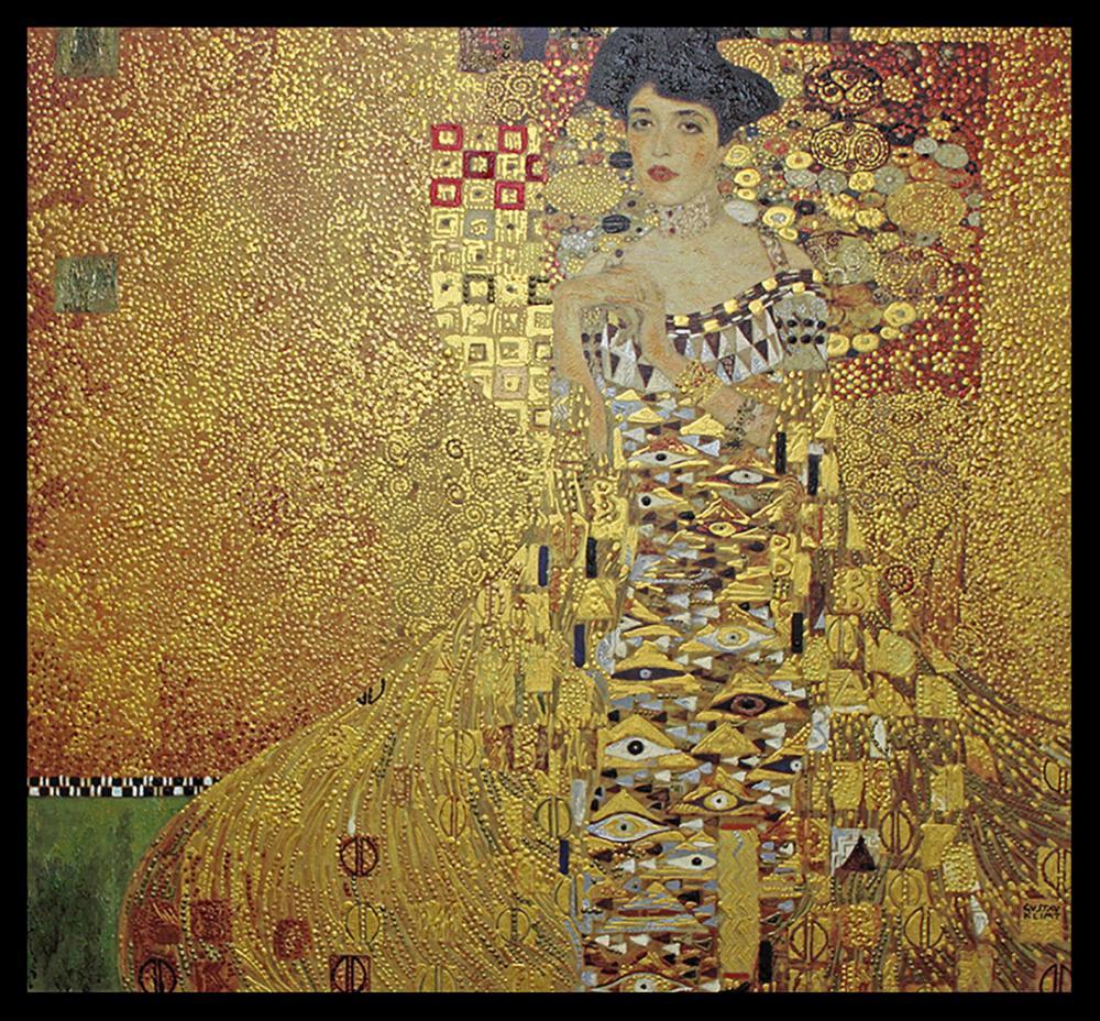 Gustav Klimt Hand Embellished Canvas  32 x 32 image