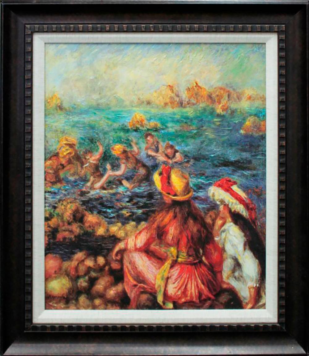 After Pierre Renoir Embellished Giclee