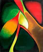 Zinovy Shersher Mixed Media Original on canvas Abstract Flower