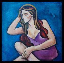 Zinovy Shersher mixed media on canvas