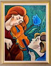 Rhapsody by Zinovy Shersher Mixed media on canvas