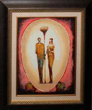 Raffi Original Signed Mixed Media Oil on Canvas