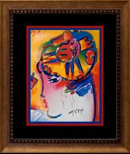 Peter Max Hand signed Lithograph and drawing