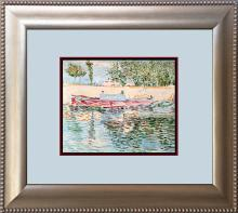 Maurice De Vlaminck Boat from Sea Color Plate Lithograph over 55 year ago