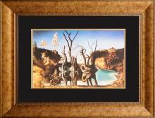 Salvador Dali Limited Edition Lithograph Swans Reflecting Elephants