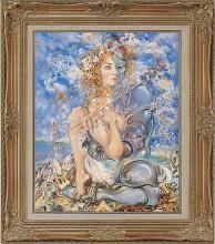 Mixed media oil on canvas by Arina
