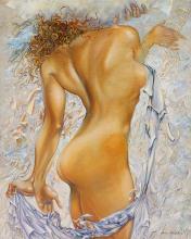 Arina Original Oil Towering Goddess 30x23