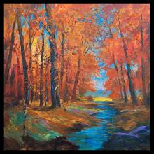 Original landscape on canvas by Michael Scofield