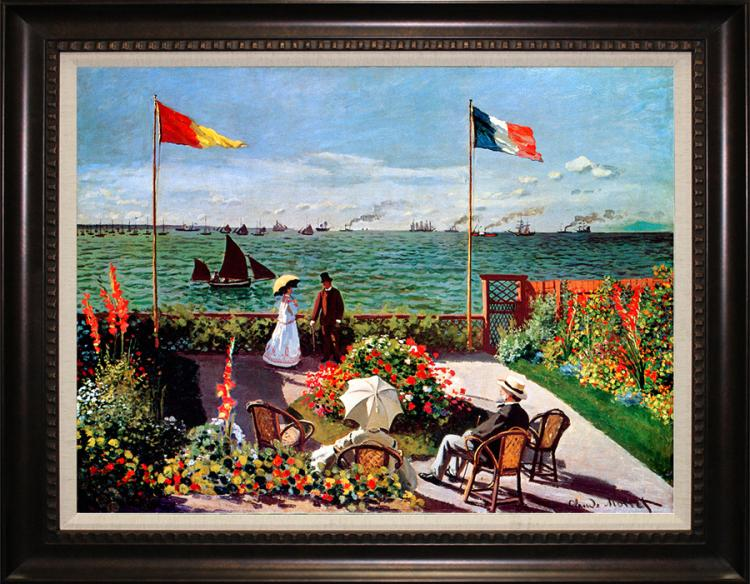 Claude Monet Limited Edition Garden At Sainte Adresse