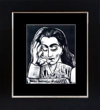 """1989 VINTAGE /""""PICASSO EXPOSITION VALLAURIS/"""" MOURLOT COLOR offset Art Lithograph"""