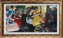 Cafe Concert Ltd Edition Hand Embellished Edgar Degas on Canvas