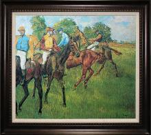 Edgar Degas Horses Hand Embellished Canvas