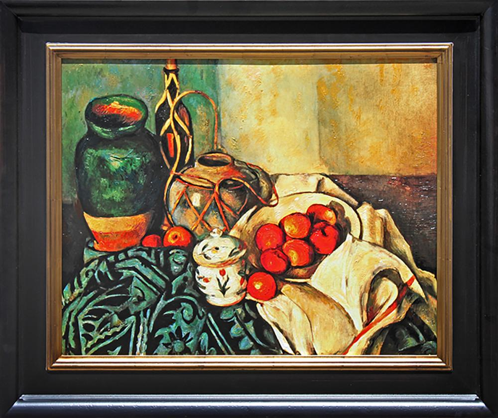 After Paul Cezanne-Embellished Limited Edition-Still Life with Apples