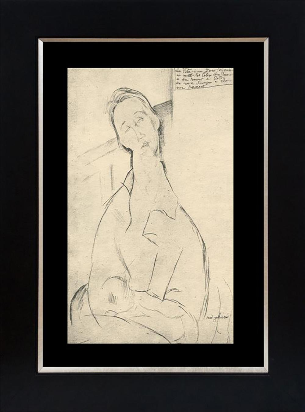 Modigliani Lithograph 90 year old lithograph on velum paper limited edition