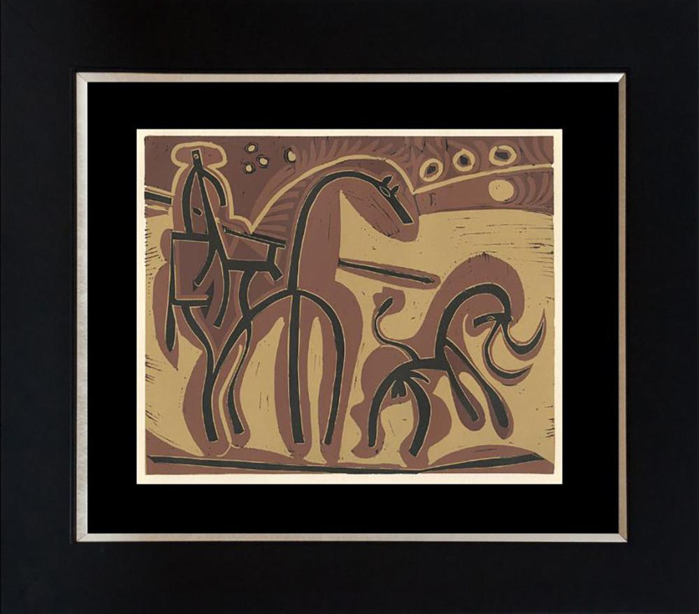 Pablo Picasso Linocut more than 40 years ago