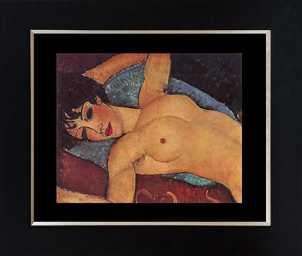 Modigliani Color plate lithograph from 1965